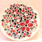 mozaieken schaal rood