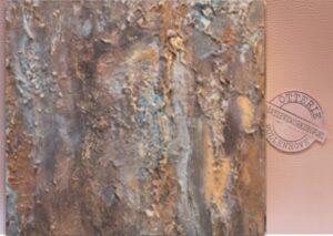wandkunst relief brons robuust