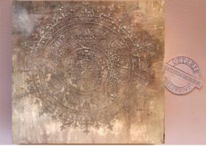 wandkunst relief schilderij rond